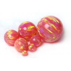SYNTHETIC OPAL BEADS - OP07 -  Deep Sea Coral
