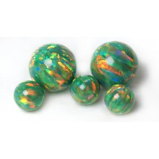 SYNTHETIC OPAL BEADS - OP21 - Green Olive