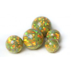 SYNTHETIC OPAL BEADS - OP46 - Golden Olive